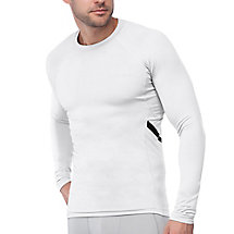 endurance long sleeve compression top in white