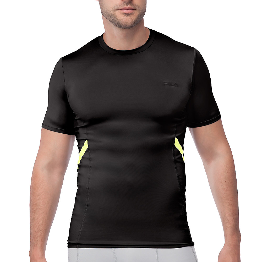 endurance short sleeve compression top in black