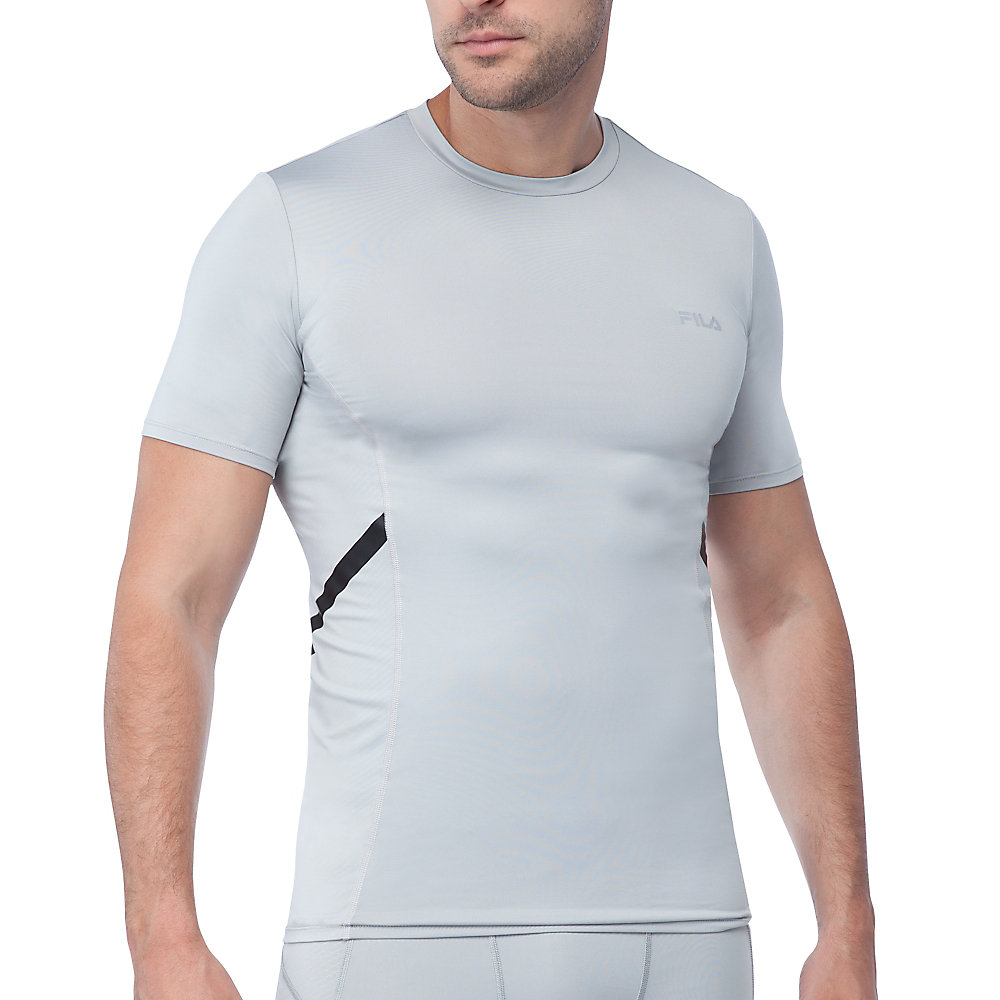 endurance short sleeve compression top in grey