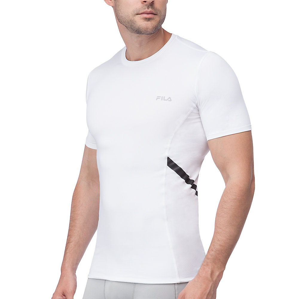 endurance short sleeve compression top in white