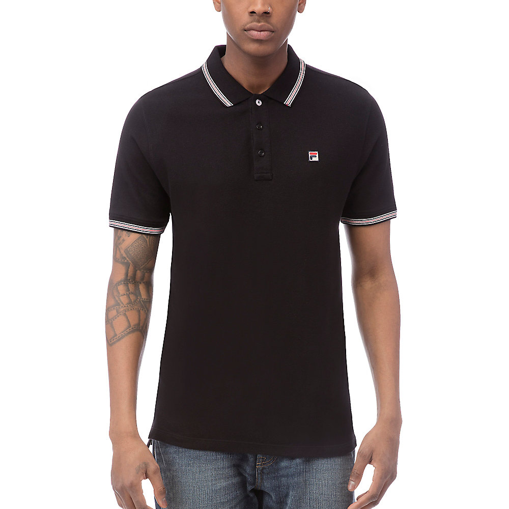 matcho 3 polo in black