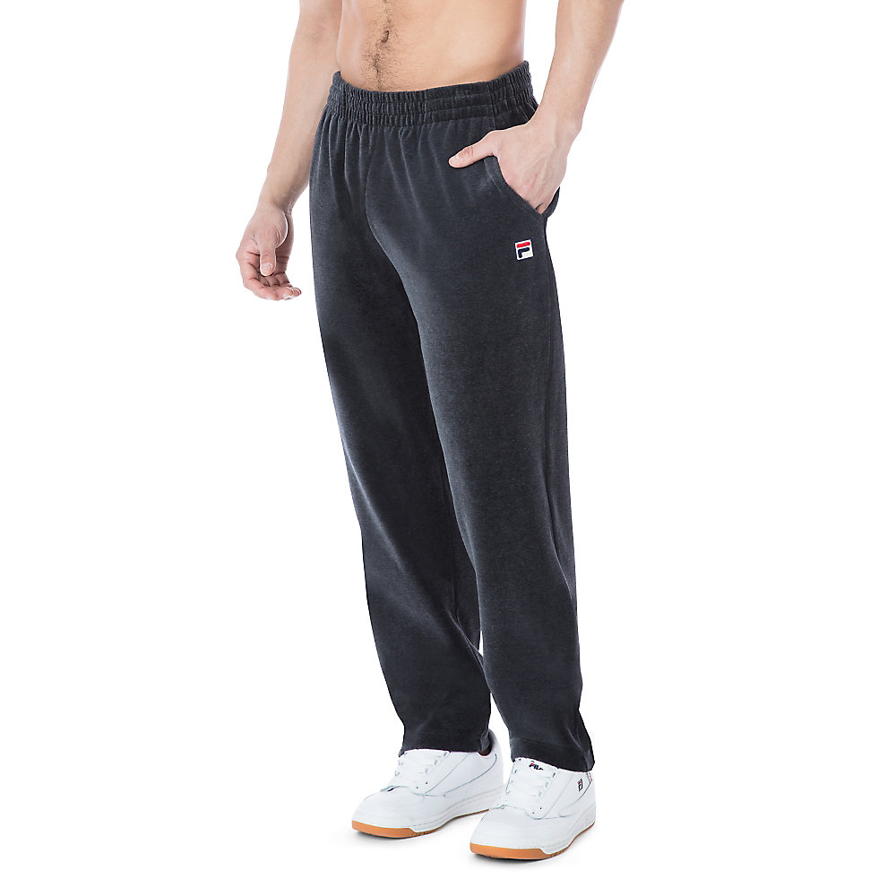 velour pant in smoke