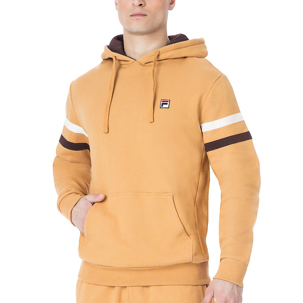 classic fleece hoody in camel