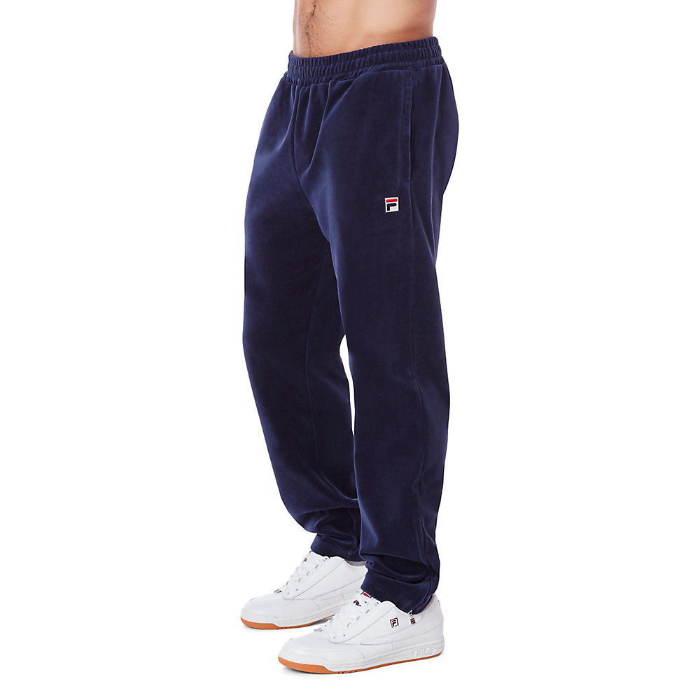 velour pant in navy