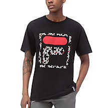 f logo mono tee in black