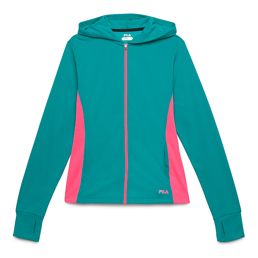 may hoody in teal