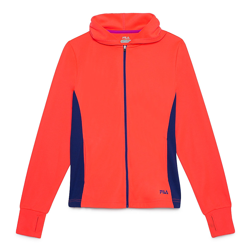 may hoody in coral