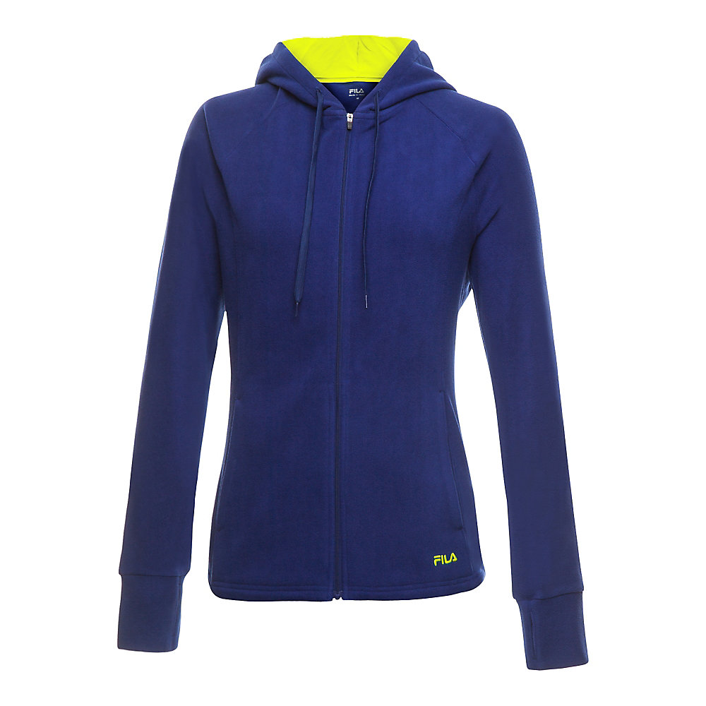 microfleece jacket in navy