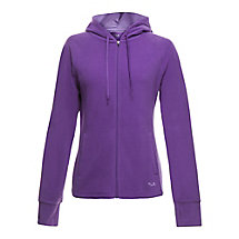 microfleece jacket in plum