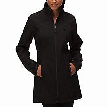 Venture long bonded jacket in black
