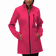venture long bonded jacket in shockingpink