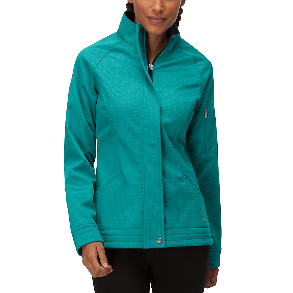 impressive bonded jacket in teal