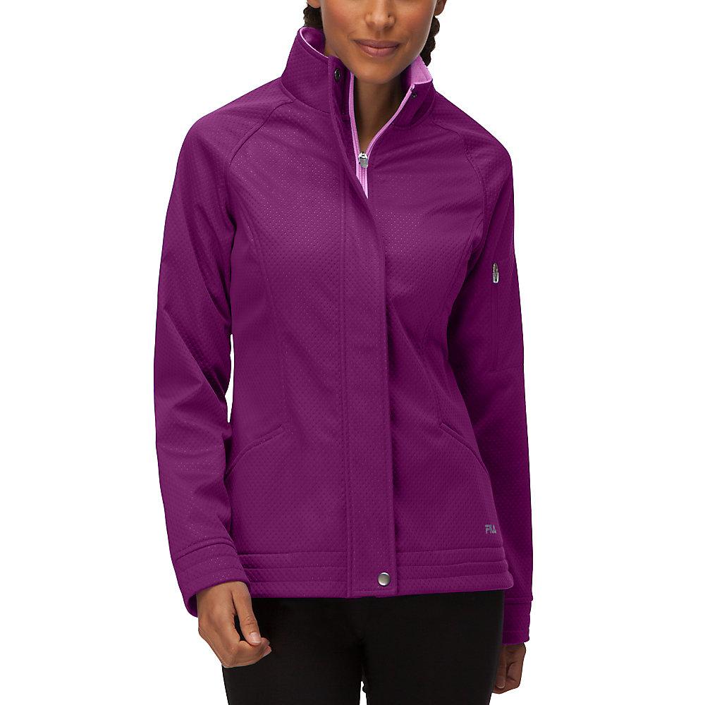 impressive bonded jacket in paisleypurple