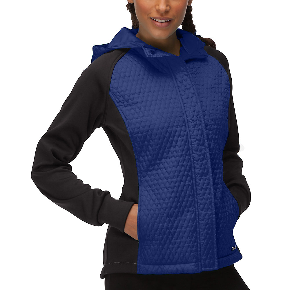 quilted jacket in nauticalblue