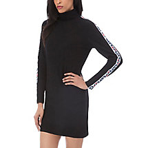 sara turtleneck dress in black