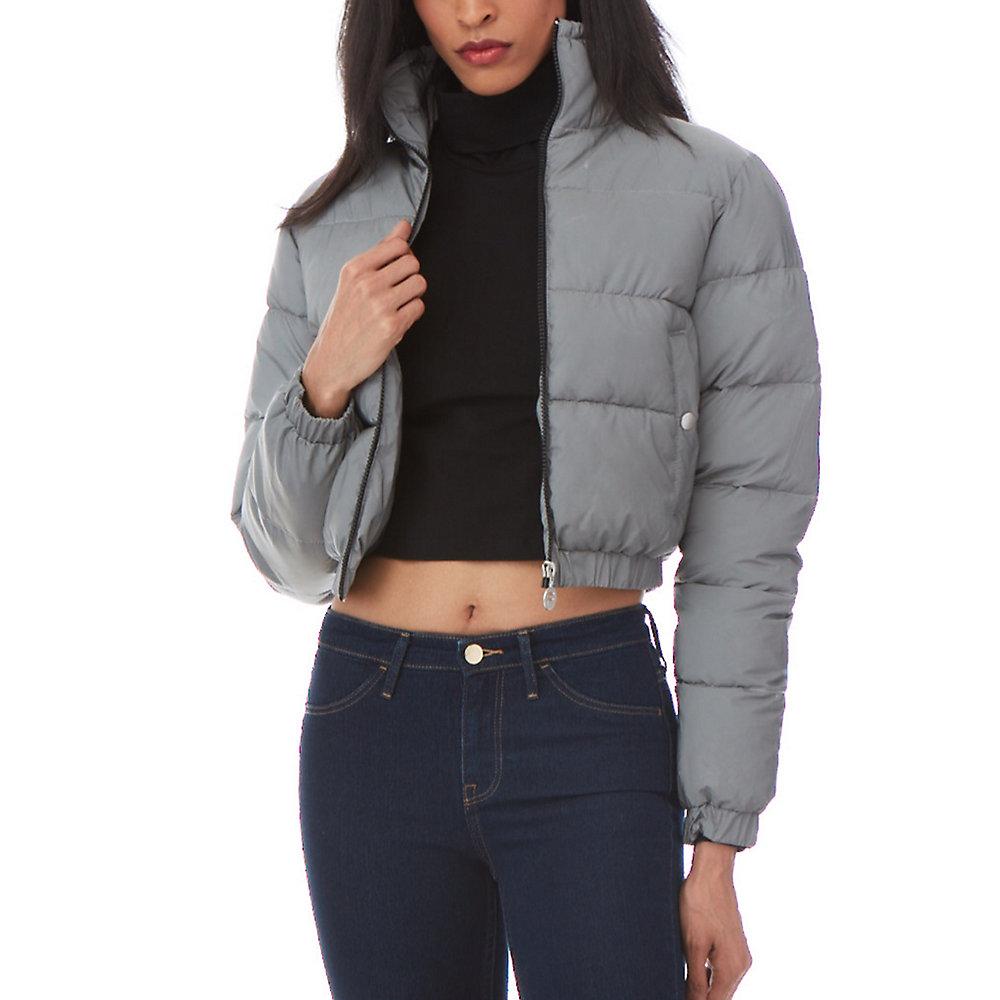 cassandra puffa jacket in silver