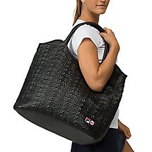 oversized tote in jetblack