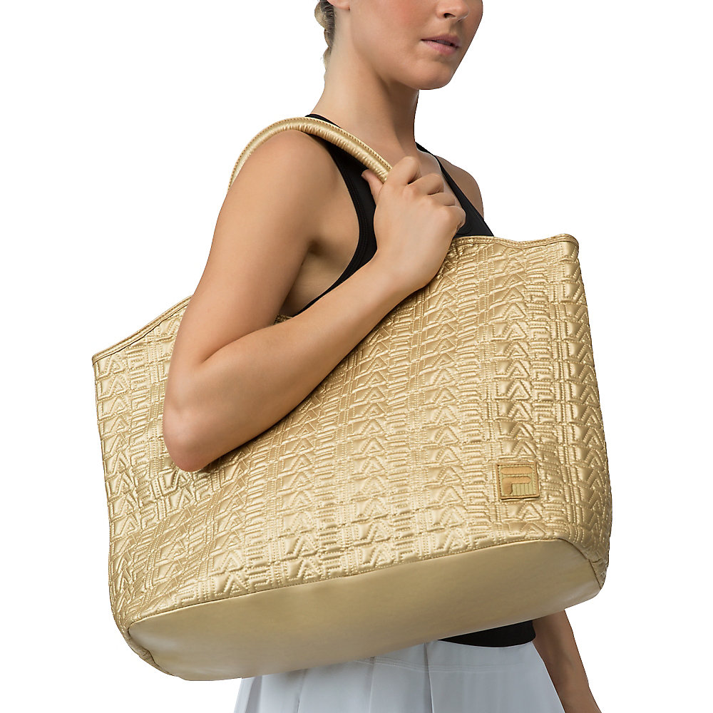 oversized tote in palegold