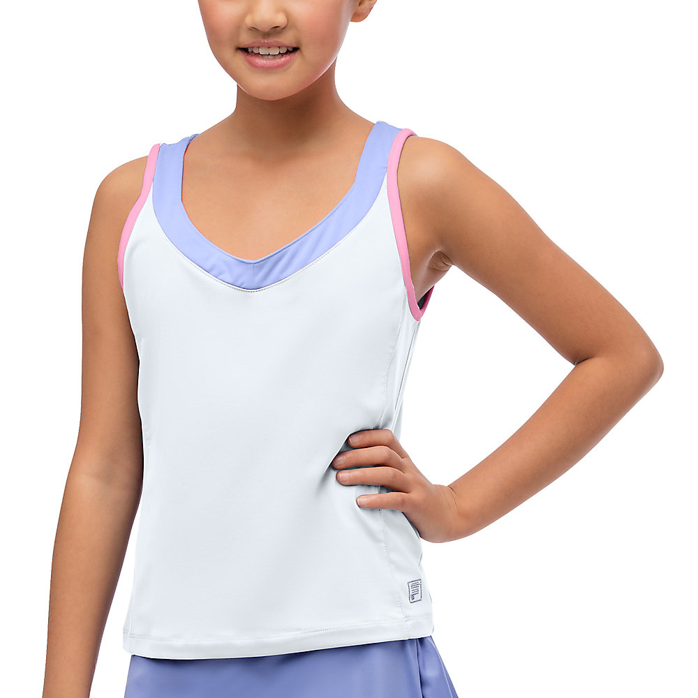 diva sleeveless tank in white