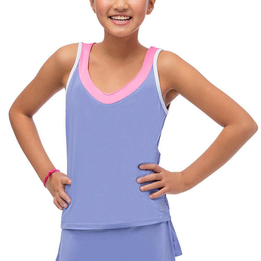 diva sleeveless tank in purples