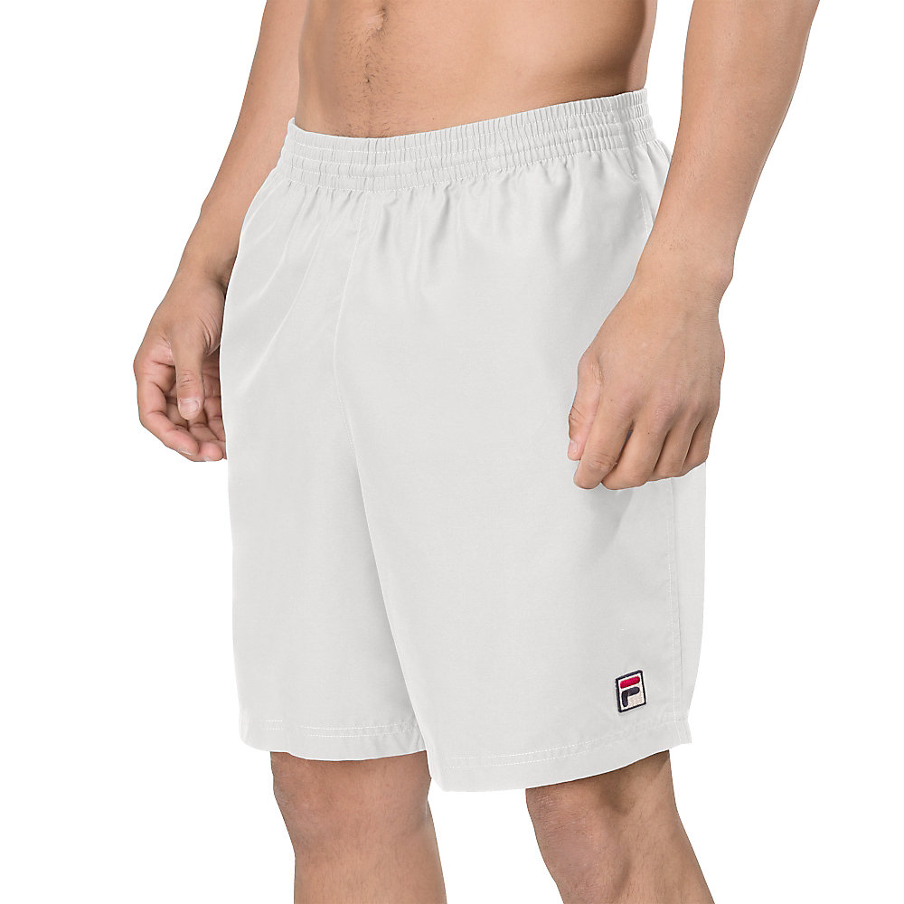 "essenza 9"" hard court short in white"