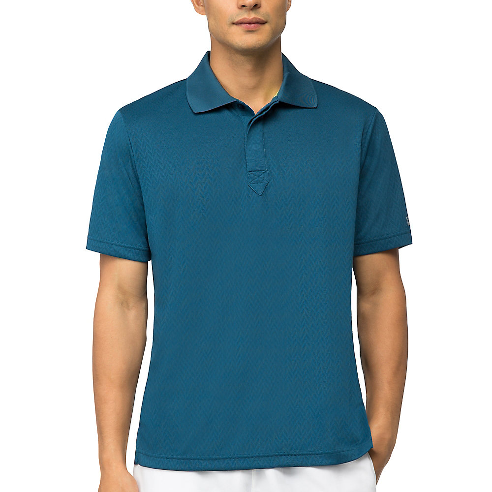 jacquard polo in blues