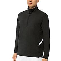 fundamental half zip jacket in black