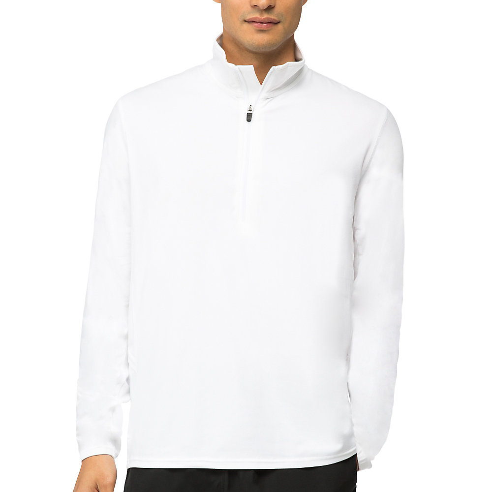 fundamental half zip jacket in white