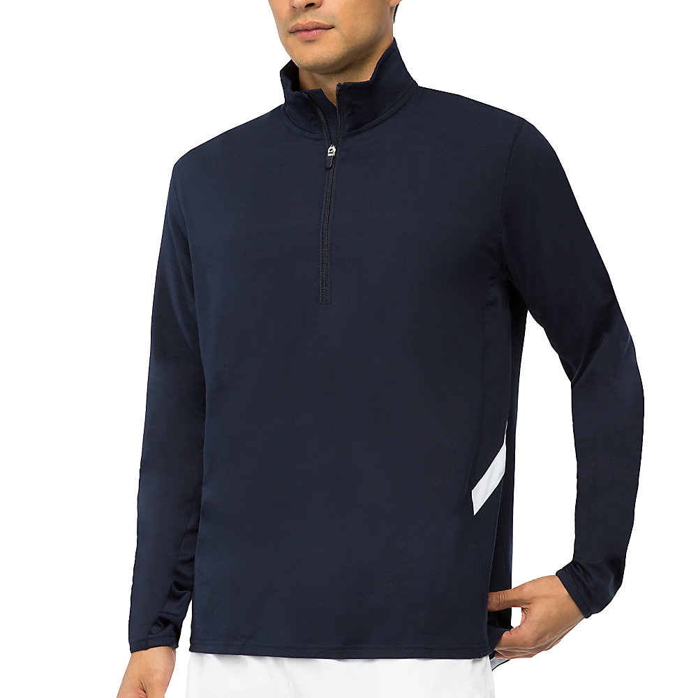 fundamental half zip jacket in blues