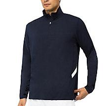 fundamental half zip jacket in navy