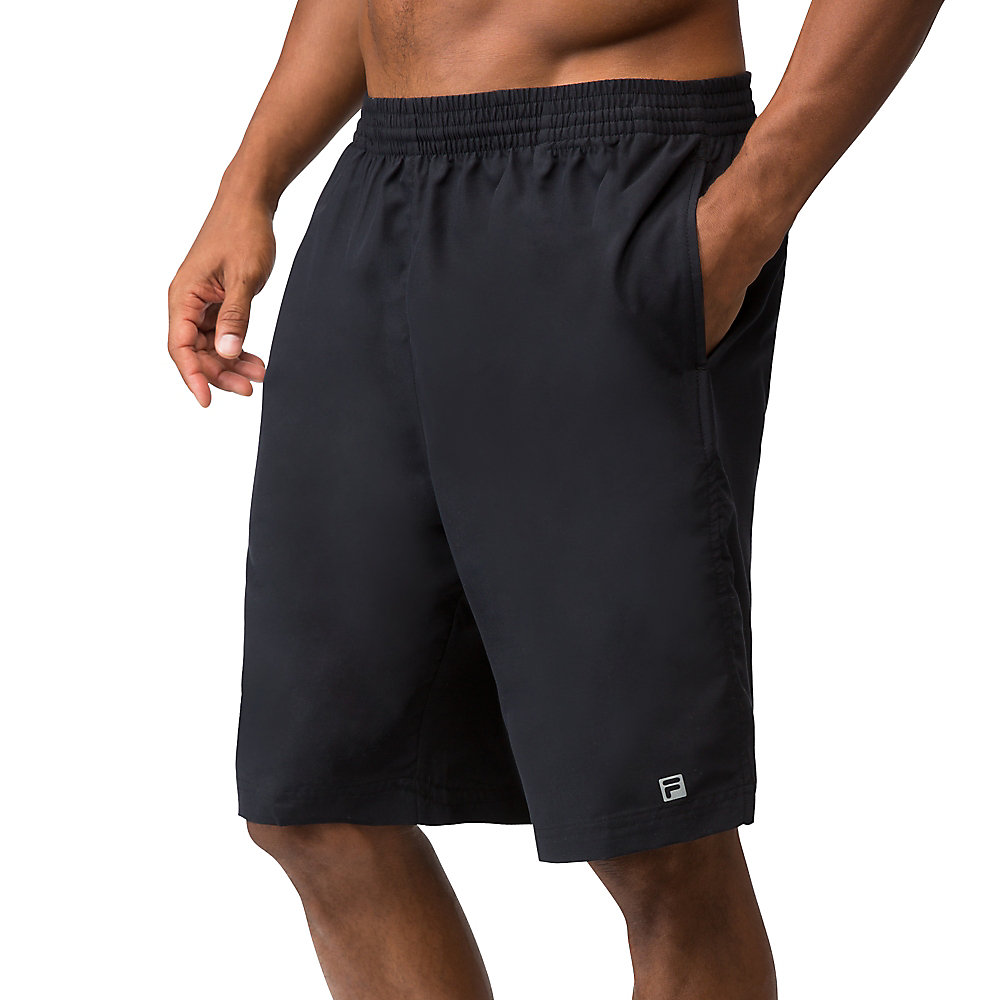 "fundamental 9"" hard court short in black"