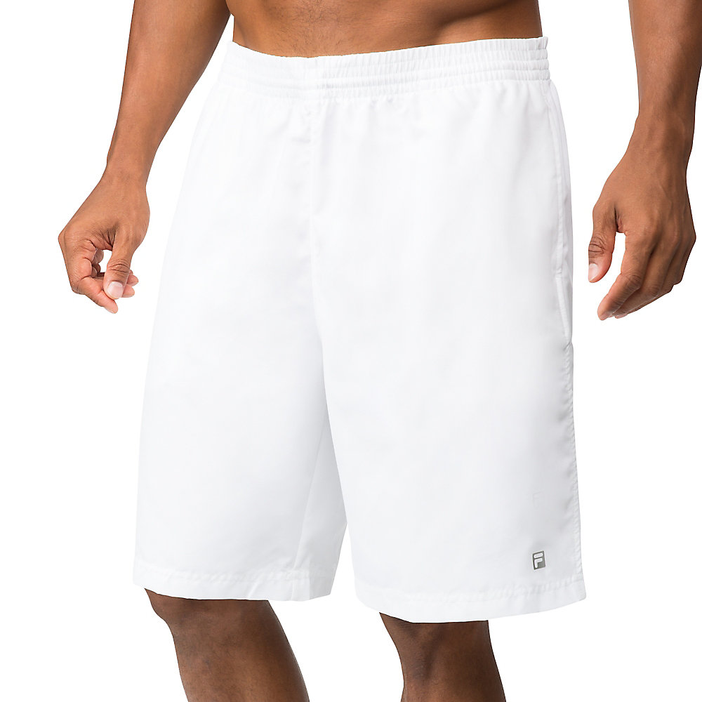 "fundamental 9"" hard court short in white"