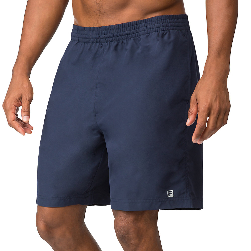 "fundamental 7"" hard court short in navy"