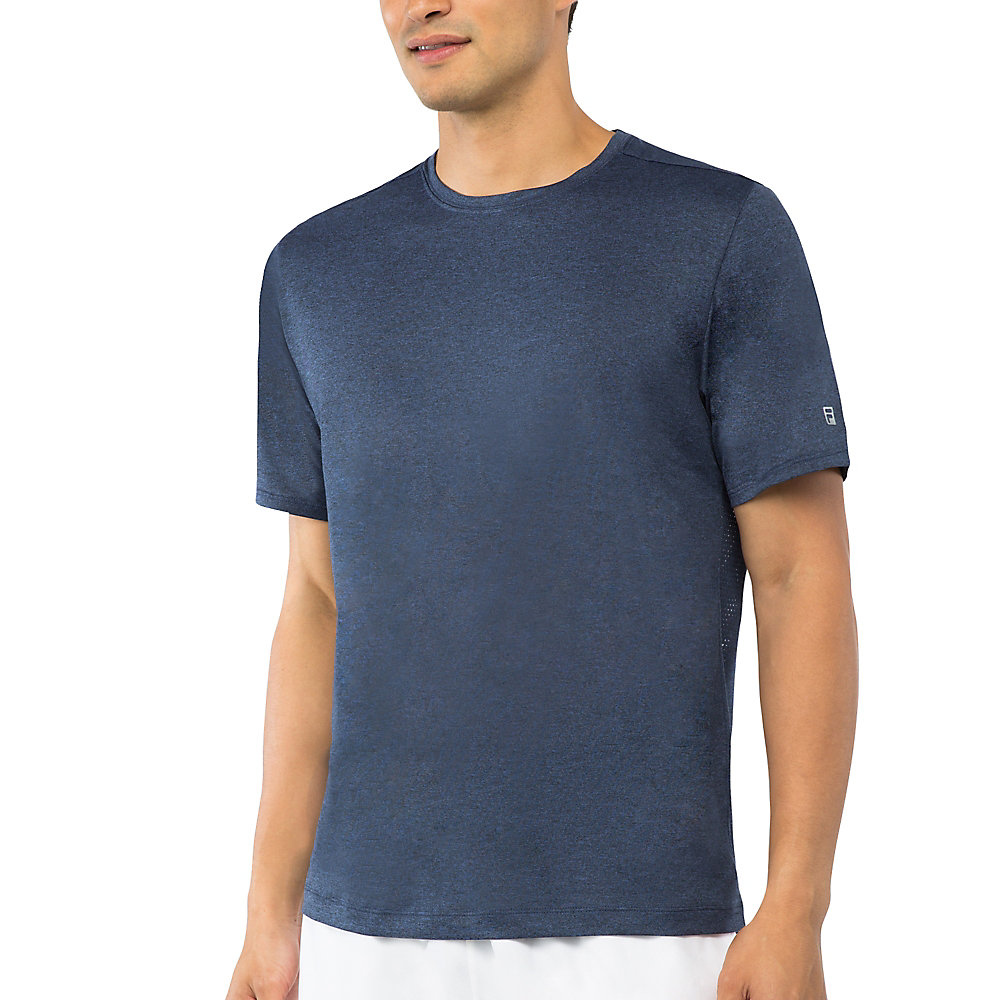men's fundamental heather crew in filanavy