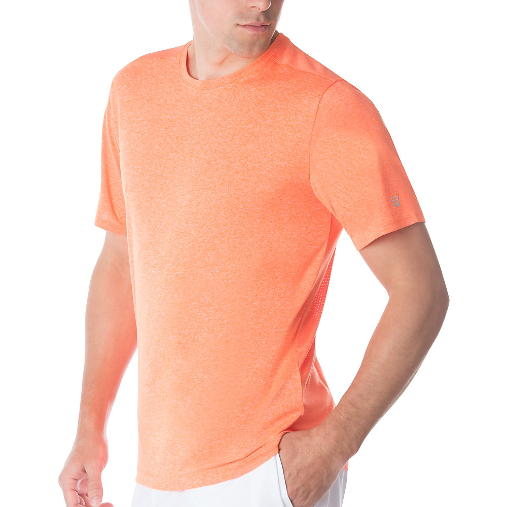 men's fundamental heather crew in spice