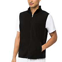 fundamental microfleece vest in jetblack
