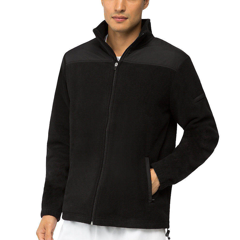 fundamental microfleece jacket in jetblack