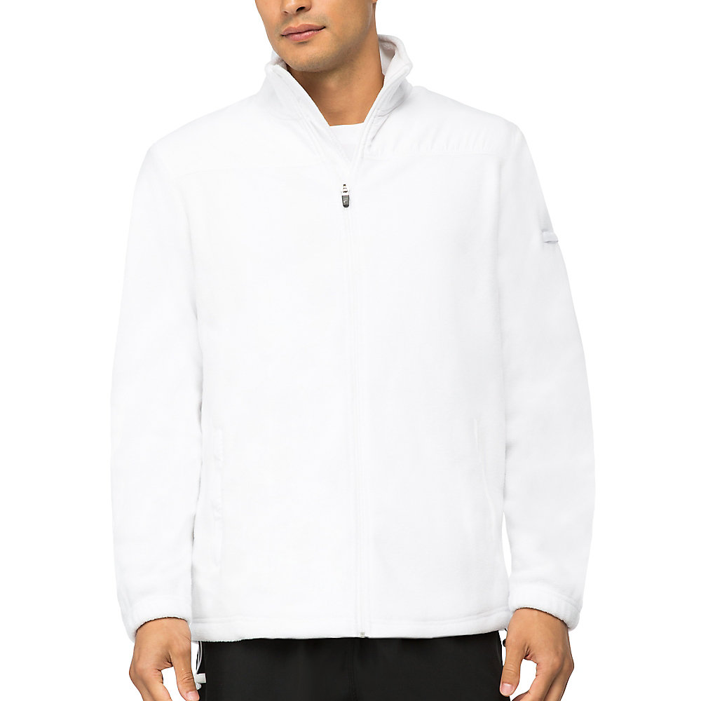 fundamental microfleece jacket in white