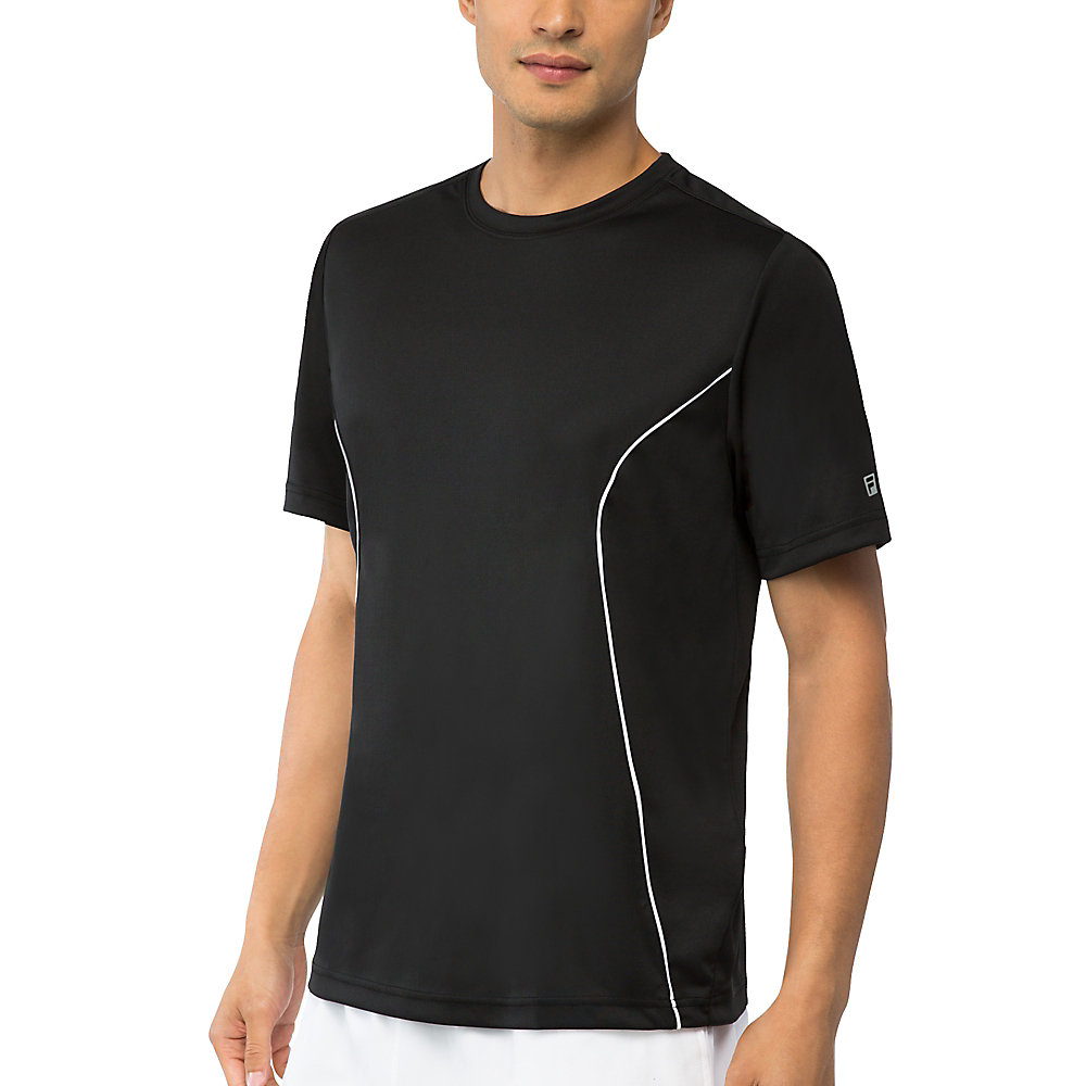 men's fundamental crew neck top in jetblack