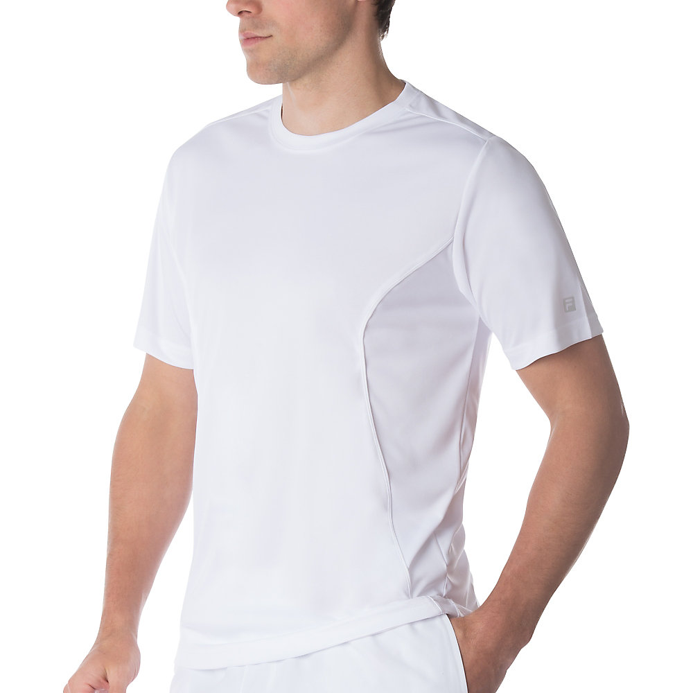 men's fundamental crew neck top in white