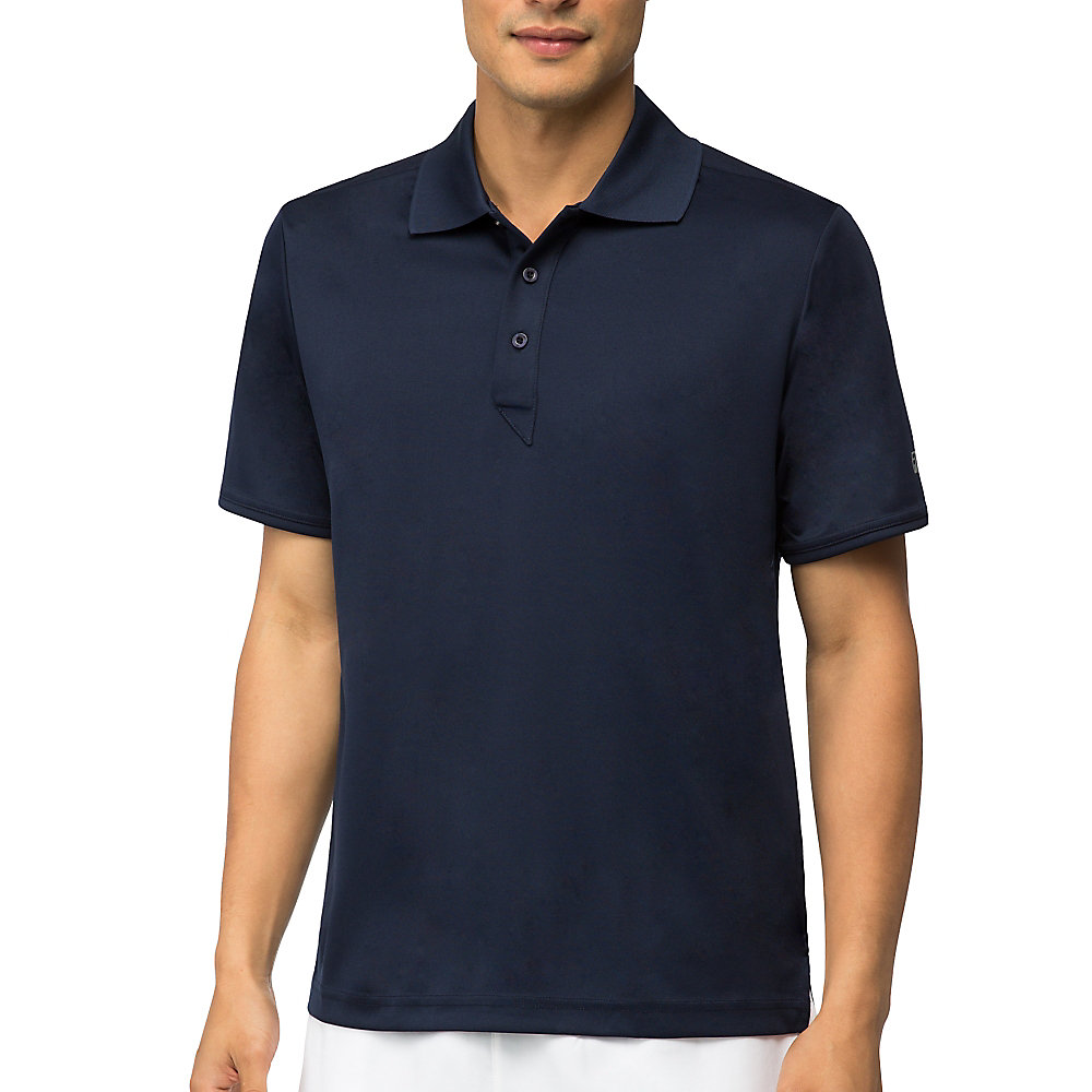 fundamental solid polo in navy