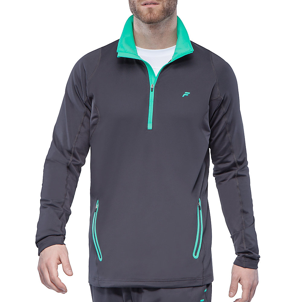 platinum quarter zip front jacket in storm