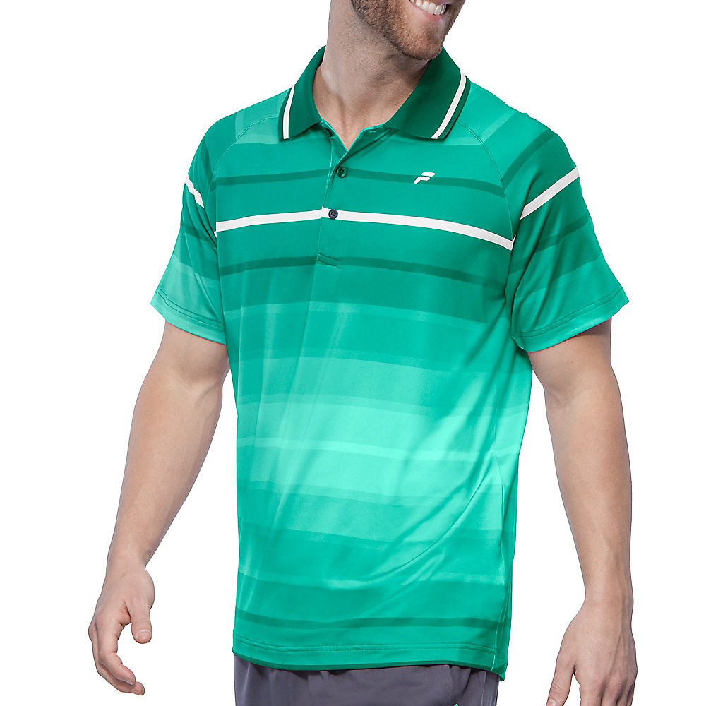 platinum stripe polo in blueradiance