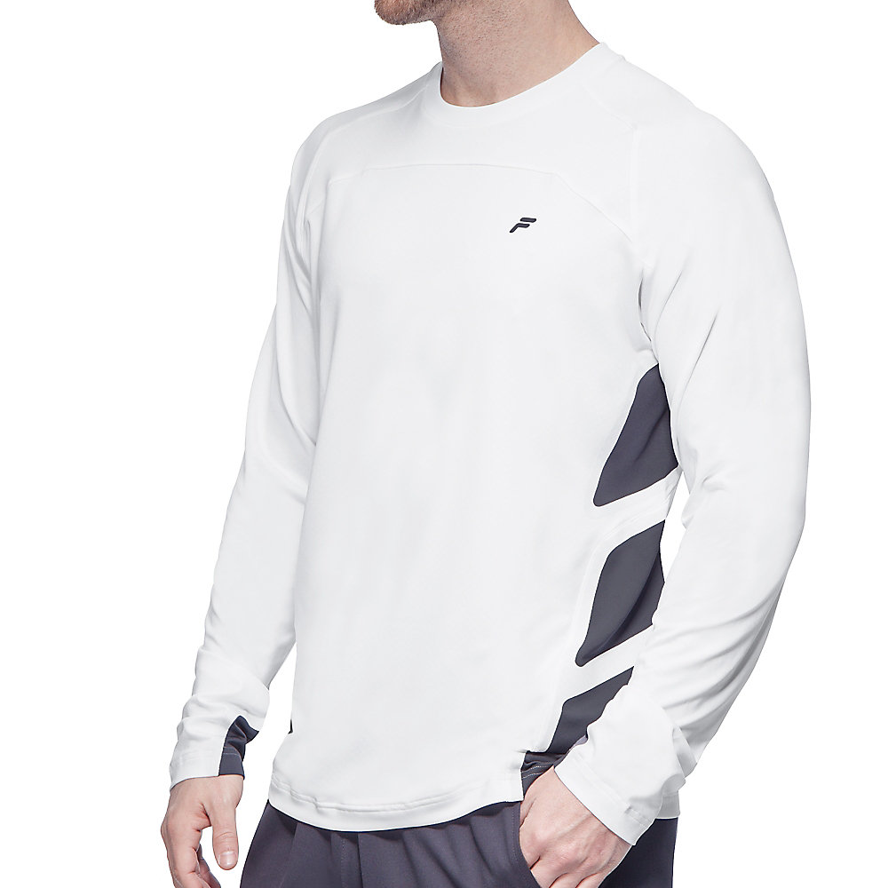 platinum long sleeve top in white