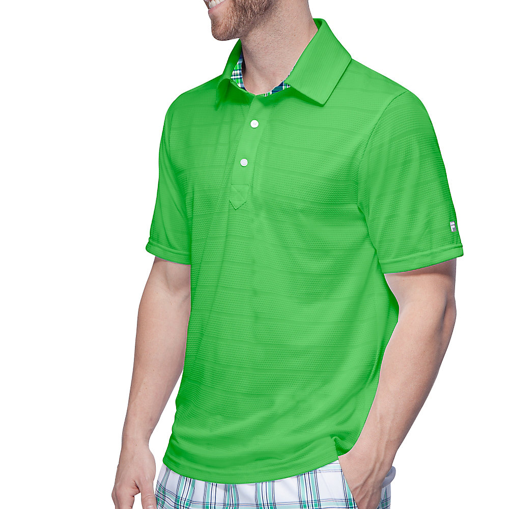 men's club polo in brightgreen