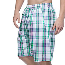 men's club reversible plaid short in white