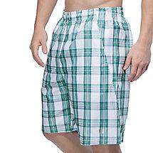 men's club reversible plaid short in white