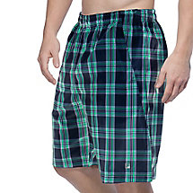 men's club reversible plaid short in peacoat