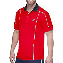 heritage piped polo in red