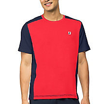 heritage color blocked crew in red
